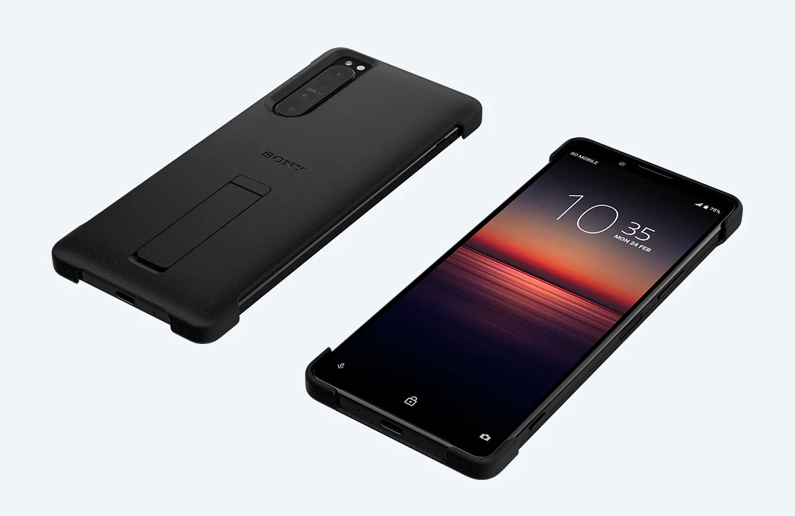 Xperia 1 II Style Cover with Stand(XQZ-CBAT)