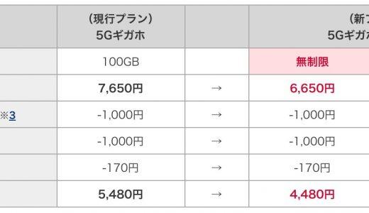 5Gはデータ無制限でさらに値下げ!ドコモ新プラン「5Gギガホ プレミア」「ギガホ プレミア」発表!auも1月に値下げプラン発表か