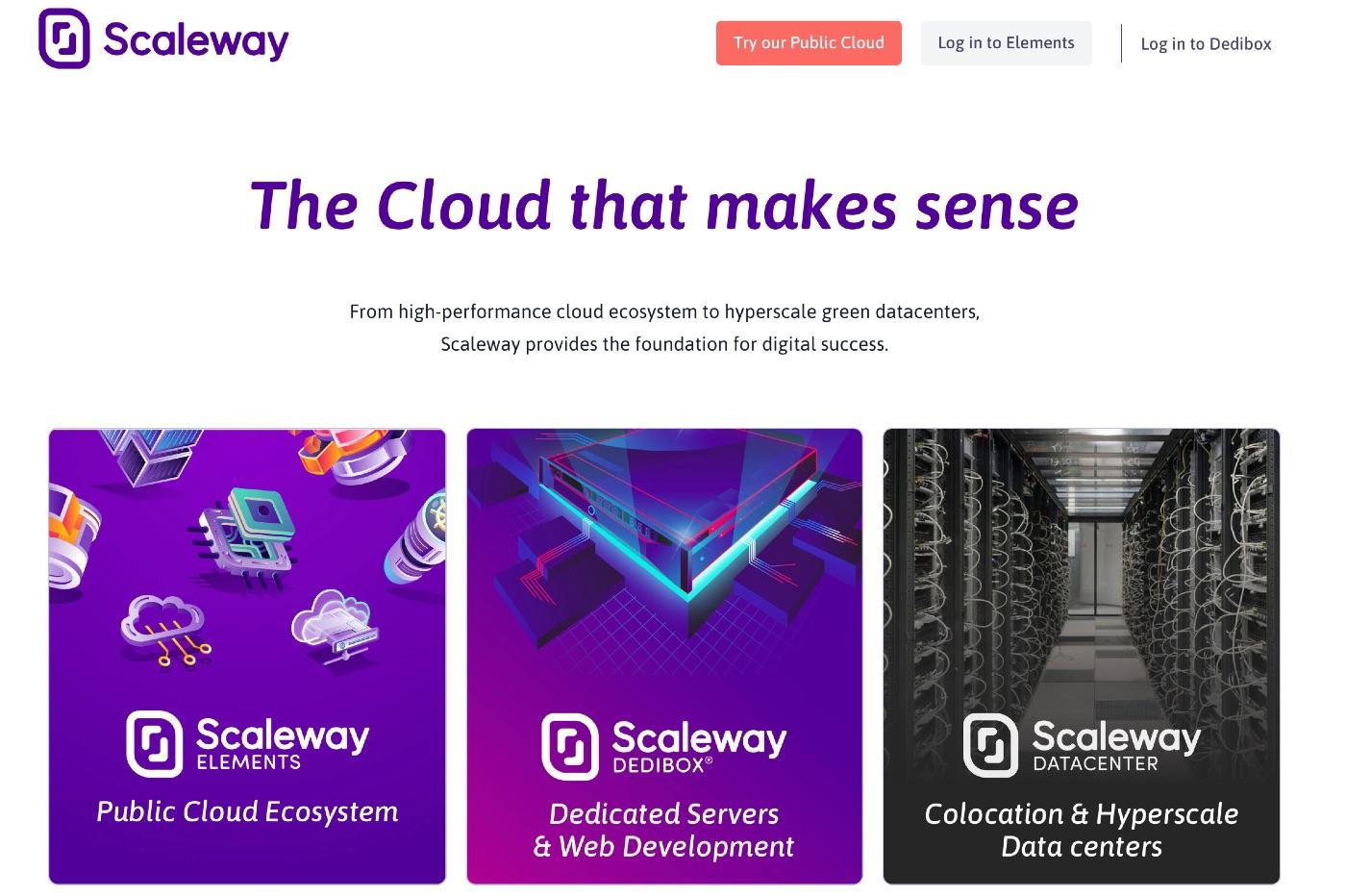 フランスのクラウドコンピューティング・ウェブホスティング会社「Scaleway」