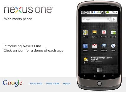 GoogleのAndroidフォン「Nexus One」